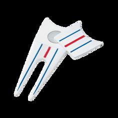 Obrázok ku produktu Golfové pomôcky - vypichovátko Callaway Triple Track Divot tool - white
