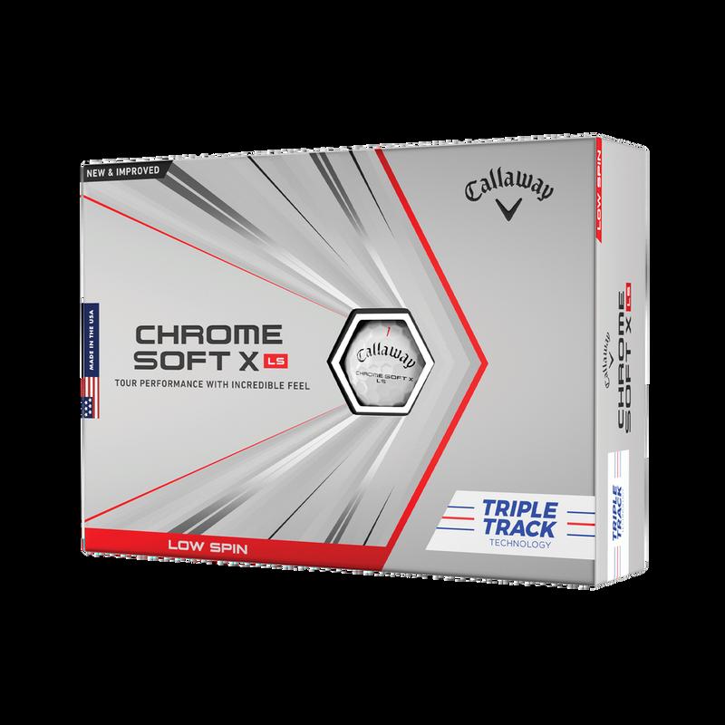 Obrázok ku produktu Golfové loptičky Callaway Chrome Soft X LS Triple Track,biele, 3-balenie, loptička z nízkym spinom (LS-low spin)