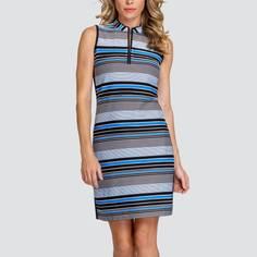 Obrázok ku produktu Dámske šaty TAIL GOLF DEEDEE čierne s modrobielymi pruhmi