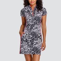 Obrázok ku produktu Dámske šaty TAIL GOLF LINDY čierne s animal potlačou