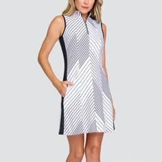 Obrázok ku produktu Dámske šaty TAIL GOLF RACHEL biele s čiernymi pruhmi