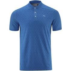 Obrázok ku produktu Pánska polokošeľa Kjus M Lance Jacq. Knit Polo S/S Olympic Blue Mlg