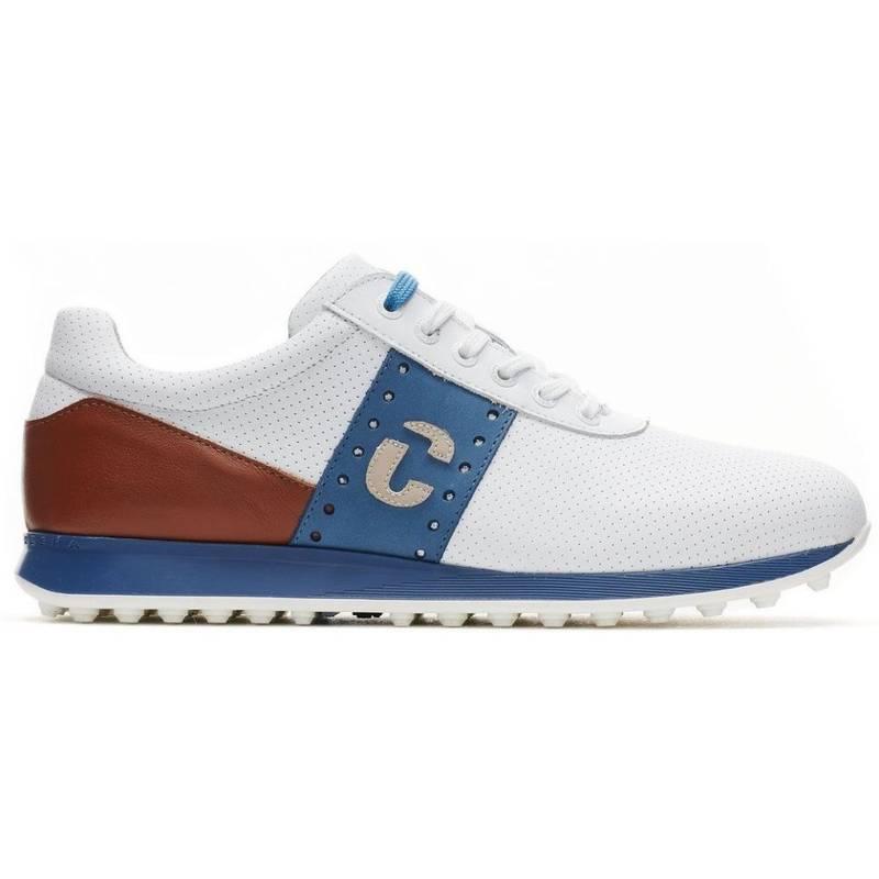 Obrázok ku produktu Pánske golfové topánky DucaDelCosma Belair White/Cognac