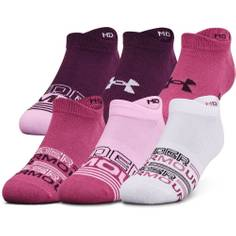 Obrázok ku produktu Dámske ponožky Under Armour golf Women's Essential NS 6pack ružovo-fialové