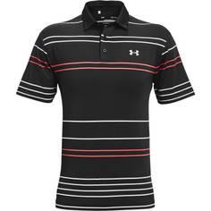 Obrázok ku produktu Pánska polokošeľa Under Armour golf Playoff Polo 2.0 PITCH STRIPE čierna