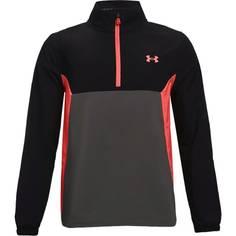 Obrázok ku produktu Juniorská bunda Under Armour golf Storm Windstrike HZ čierna