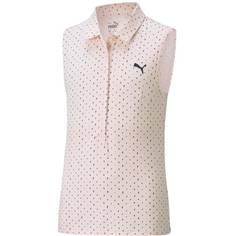 Obrázok ku produktu Dievčenská polokošeľa Puma Golf Cloudspun Sleeveless Polka Polo ružová