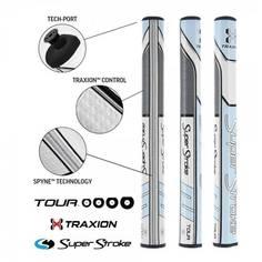 Obrázok ku produktu Grip na golfové palice - Super Stroke  X-Traxion Pistol GT 1.0 Tiffany/Grey Putter grip