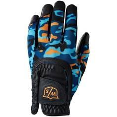 Obrázok ku produktu Golfová juniorská  rukavica Wilson FIT ALL, Black/ Orange Camo, univerzálna veľkosť