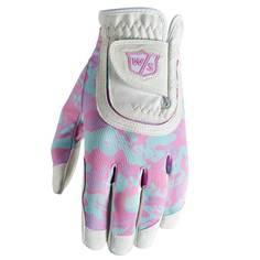 Obrázok ku produktu Golfová juniorská  rukavica  Wilson FIT ALL, White/ Pink Camo, univerzálna veľkosť