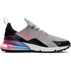 Obrázok ku produktu Unisex golfové topánky Nike Golf Air Max 270 G šedé s čiernymi a neónovými akcentmi
