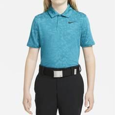 Obrázok ku produktu Juniorská polokošeľa Nike Golf TW B NK DF PRINT POLO tyrkysová