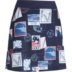 Obrázok ku produktu Dámska sukňa Callaway Golf POSTCARD PRINT SKORT tmavomodrá s potlačou