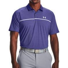 Obrázok ku produktu Pánska polokošeľa Under Armour golf Iso-Chill Hollen Stripe P modrá s pruhami
