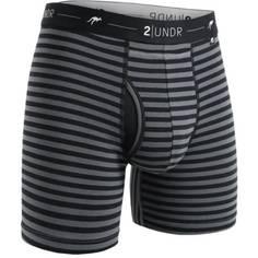 Obrázok ku produktu Boxerky 2UNDR Day Shift Boxer Brief  Black/grey Stripes