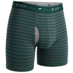 Obrázok ku produktu Boxerky 2UNDR Day Shift Boxer Brief Dark green/grey Stripes