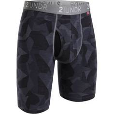 Obrázok ku produktu Boxerky 2UNDR Swing Shift Long Leg Brief Camo Black