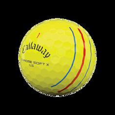 Obrázok ku produktu Golfové loptičky Callaway Chrome Soft X LS (low spin) 21 Triple Track žlté, 3-bal