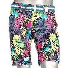 Obrázok ku produktu Pánske šortky Alberto Golf EARNIE Flamingos s listami a plameniakmi