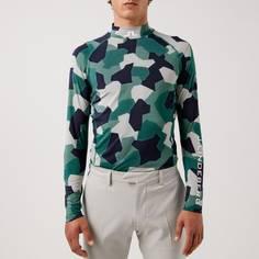 Obrázok ku produktu Pánske tričko J.Lindeberg Golf Aello Soft Comp Print zelené/maskáč