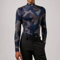Obrázok ku produktu Pánske tričko J.Lindeberg Golf Aello Soft Comp Print modré/maskáč