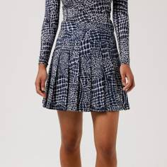Obrázok ku produktu Dámska sukňa J.Lindeberg Adina Printed Golf tmavomodrá/vzor krokodíl