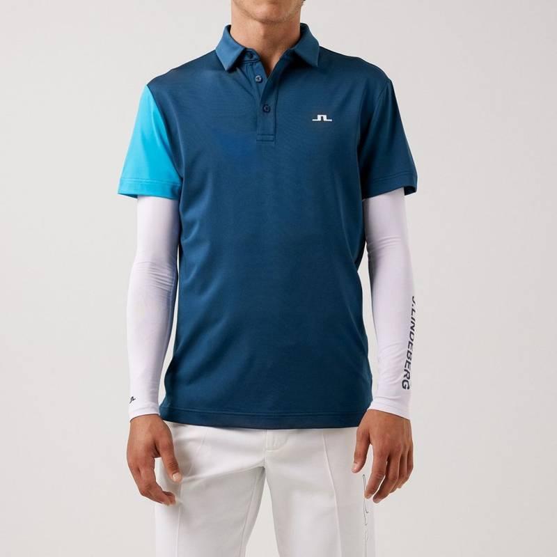 Obrázok ku produktu Pánska polokošeľa J.Lindeberg Simon Regular Fit Golf Polo modrá