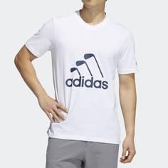 Obrázok ku produktu Pánske tričko adidas golf CLUB T-SHIRT biele