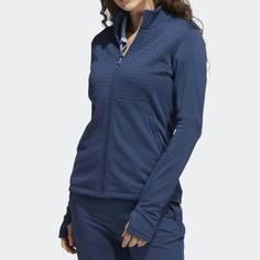 Obrázok ku produktu Dámska bunda adidas golf Primegreen COLD.RDY FULL-ZIP modrá