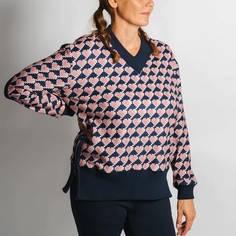 Obrázok ku produktu Dámska mikina Coeurs de CHERIE V-FLEECE HEARTS NAVY