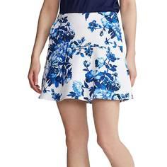 Obrázok ku produktu Dámska sukňa Ralph Lauren Polo Flounce biela s modrou potlačou