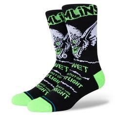 Obrázok ku produktu Unisex vysoké ponožky STANCE GREMLINS BRIGHT LIGHT čierne s grafikou