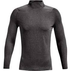 Obrázok ku produktu Pánske tričko Under Armour golf Cold Gear Fitted Mock šedé
