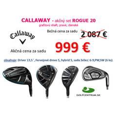 Obrázok ku produktu Kompletná sada Callaway Rogue 20- sada želiez 6-PS, Fervejové drevo, hybrid, driver, LRH, Grafit ženský