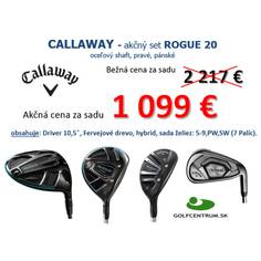 Obrázok ku produktu Kompletná sada Callaway Rogue 20 - sada želiez 5-PS, Fervejové drevo, hybrid, driver, MRH, Ocel Regular