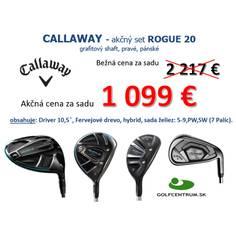 Obrázok ku produktu Kompletná sada Callaway Rogue 20 - sada želiez 5-PS, Fervejové drevo, hybrid, driver, MRH, grafit regular