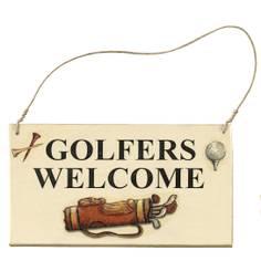 "Obrázok ku produktu Tabuľka na dvere ""Golfers velcome"""