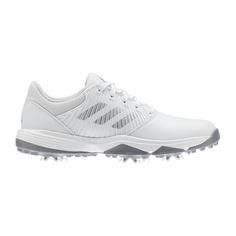 Obrázok ku produktu Juniorské golfové topánky adidas  Jr CP TRAXION biele