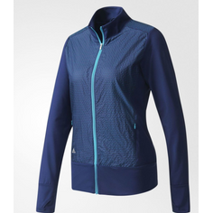 Obrázok ku produktu Dámska bunda adidas golf Wind Tech Full Zip modrá