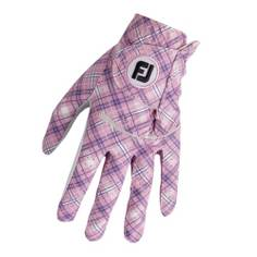 Obrázok ku produktu Dámska golfová rukavica Footjoy Spectrum Ľavá - Pink Tartan
