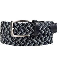 Obrázok ku produktu Pánsky opasok Alberto Golf Multicolor Braided čierno-šedý melír