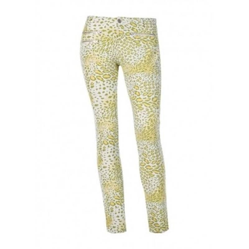 Obrázok ku produktu Dámske nohavice Alberto TINA-Z - WR Print fantasy žlté