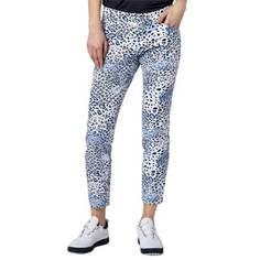 Obrázok ku produktu Dámske nohavice Alberto Golf TINA-Z biele s modrou potlačou