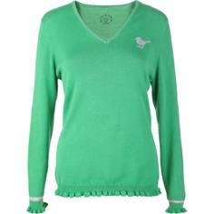 Obrázok ku produktu Sveter Girls Golf dámsky Basic Ruffle, green