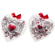 Obrázok ku produktu Darčekekové bal. Srdce s tíčkami a loptičkou s potlačou Srdce