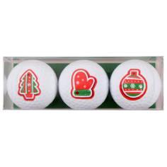 Obrázok ku produktu Darčekové balenie loptičiek s vianočnou potlačou, 3-bal.