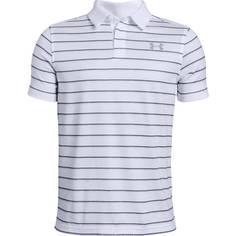 Obrázok ku produktu Polokošeľa juniorská Under Armour Tour Tips Stripe Polo biele