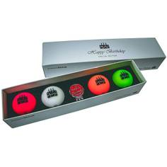 Obrázok ku produktu Golfové loptičky Volvik Vivid Happy Birthday, 4-balenie