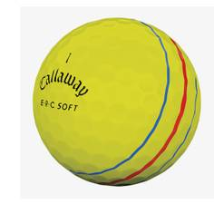 Obrázok ku produktu Golfové loptičky Callaway ERC Soft Tripple Track 19 žlté, 3-balenie