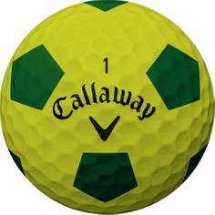 Obrázok ku produktu Golfové loptičky Callaway Chrome Soft Truvis, Futbalová vizualizácia,  žlto zelené, 3-balenie